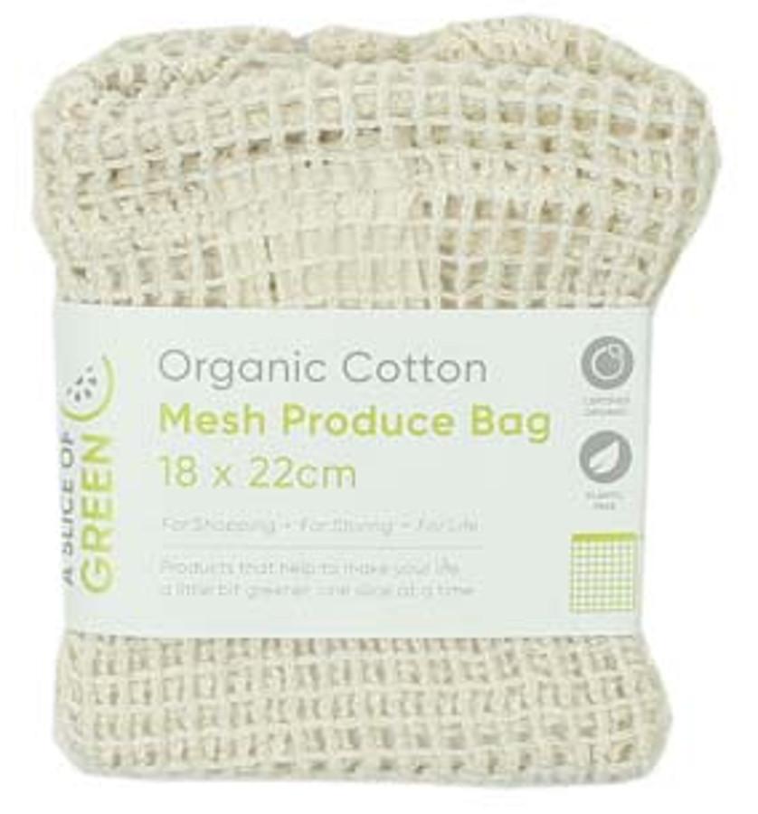 A Slice of Green Organic Cotton Mesh Produce Bag - Small
