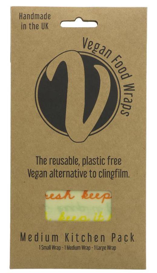 The Vegan Food Wrap Company Medium Kitchen Pack - 3 Food Wraps
