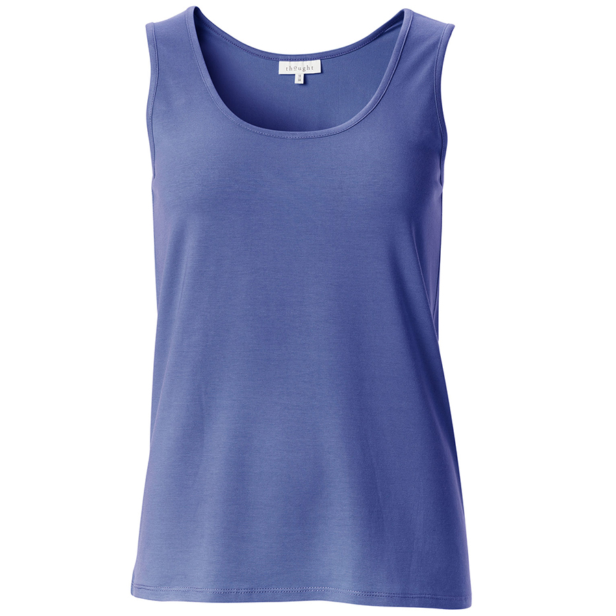 Thought Bamboo Vest - Sapphire Blue