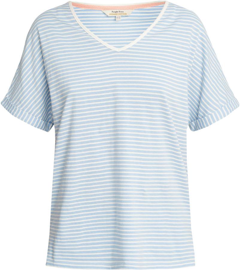 People Tree Blue Stripe Short Sleeve Pyjama Top