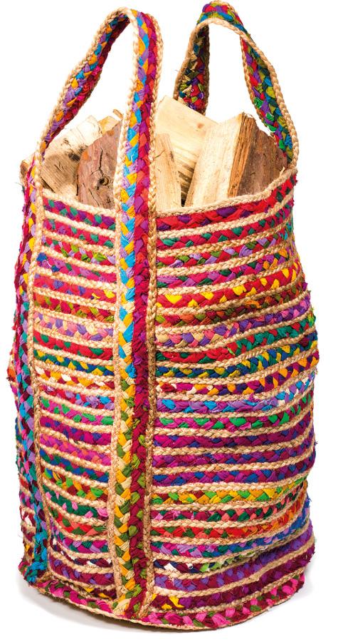 Multi Colour Cotton & Jute Chindi Bag