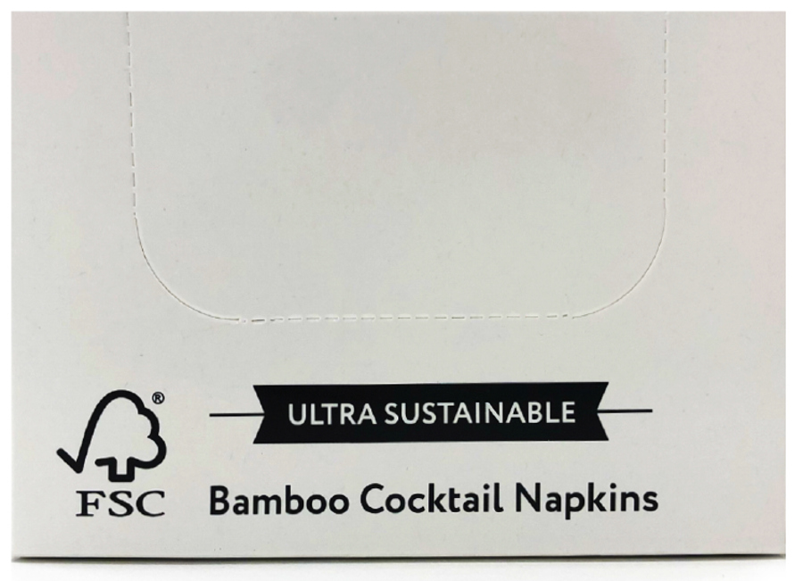 The Cheeky Panda Plastic Free Bamboo Cocktail Napkins - 100