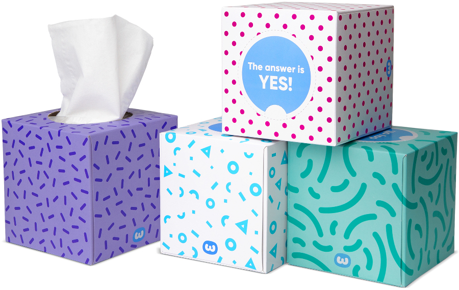 Who Gives a Crap Forest Friendly Bamboo Tissue Box