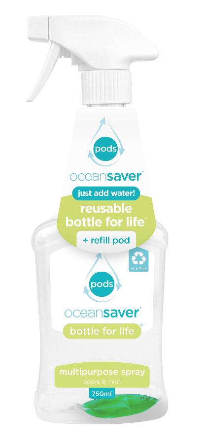 Ocean Saver Bottle for Life Multi-Purpose Cleaner Starter Pack