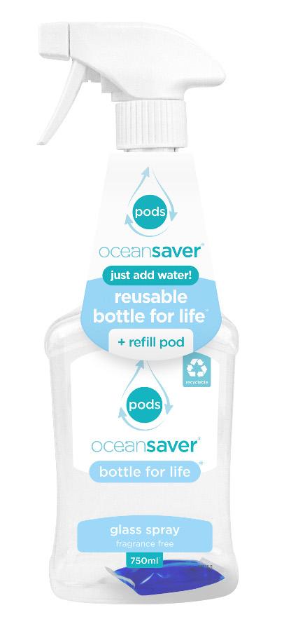 Ocean Saver Bottle for Life Glass Cleaner Starter Pack