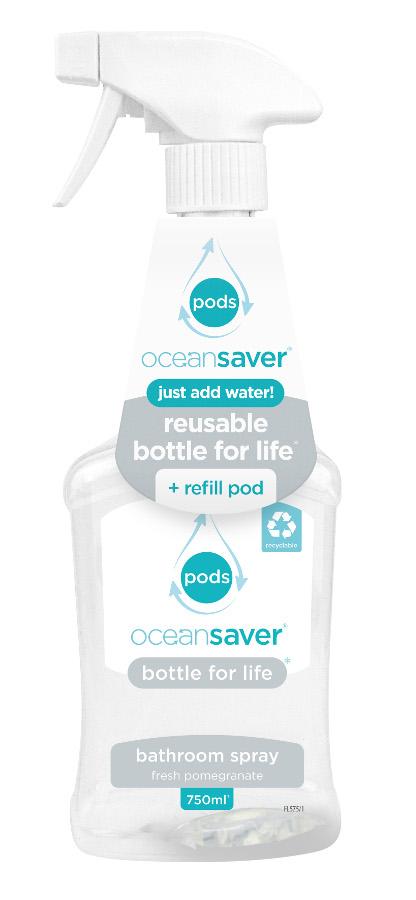 Ocean Saver Bottle for Life Bathroom Cleaner Starter Pack