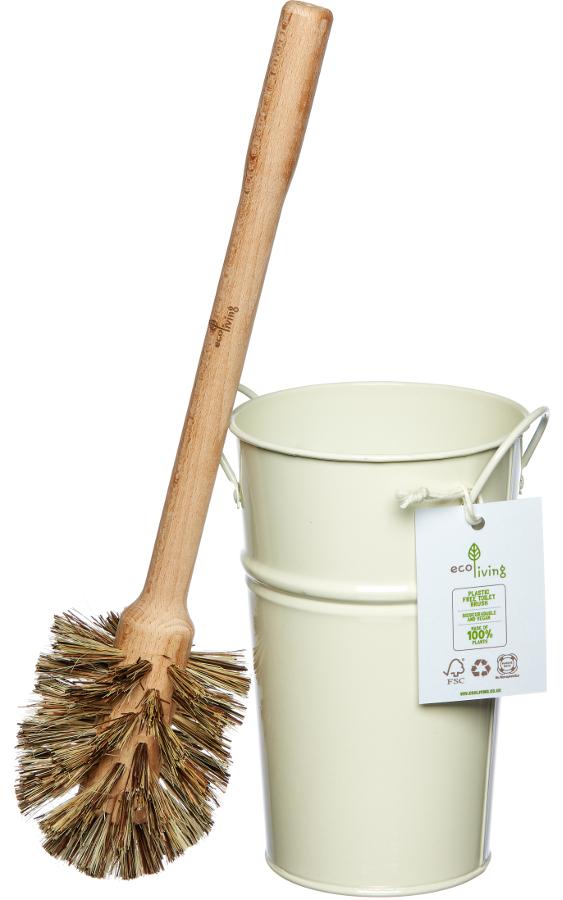 ecoLiving Plastic Free Toilet Brush & Holder