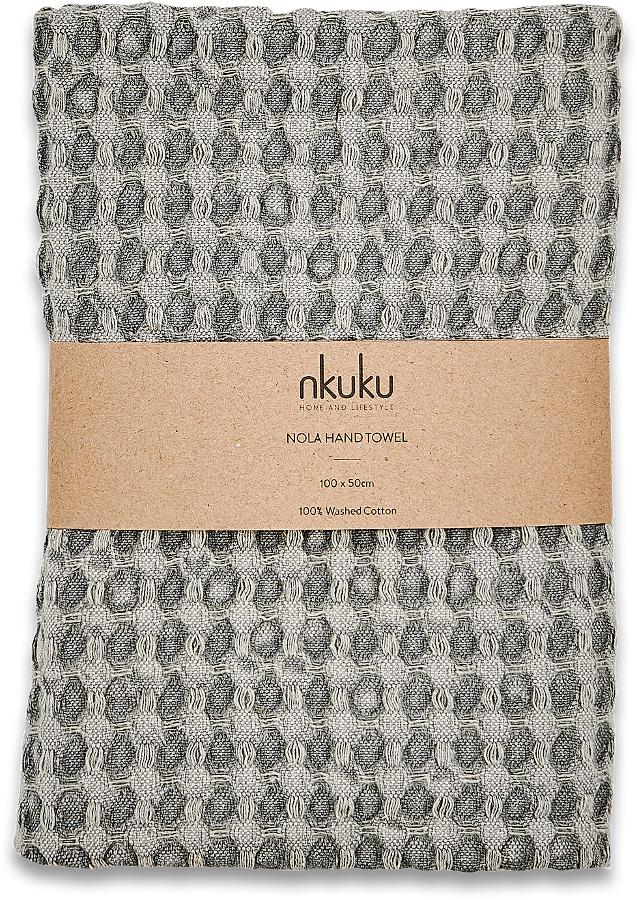 Nola Grey Hand Towel