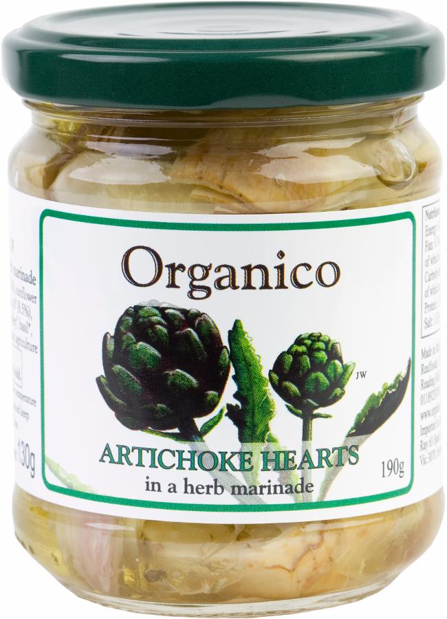 Organico Artichoke Hearts in a Herb Marinade - 190g
