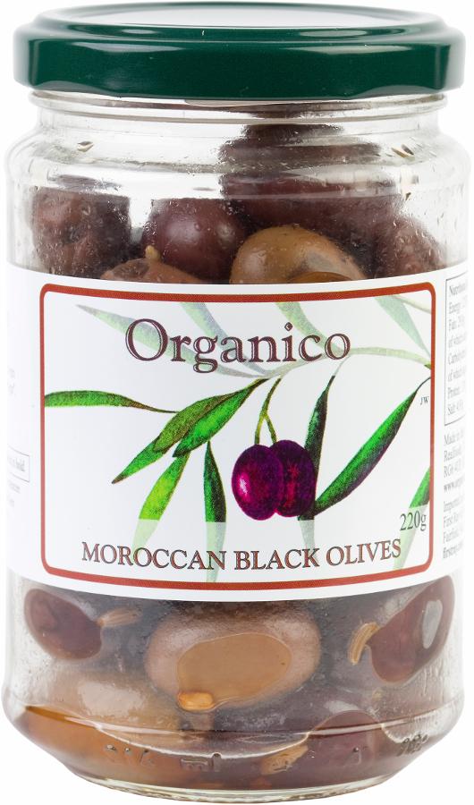 Organico Black Olives in Moroccan Marinade - 220g