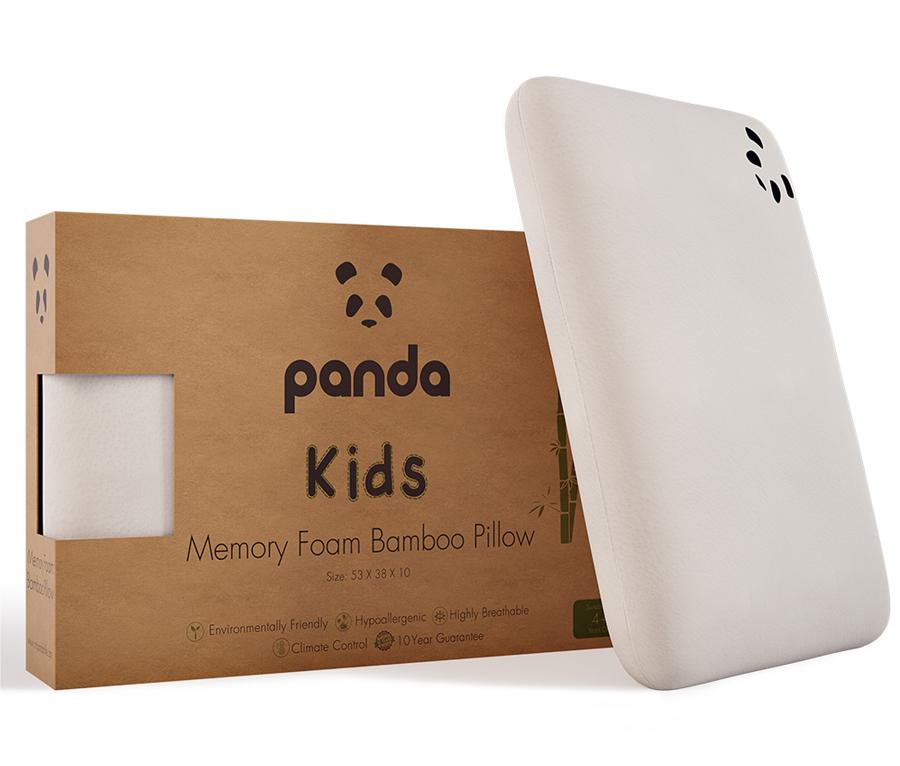 Panda Kids Memory Foam Bamboo Pillow