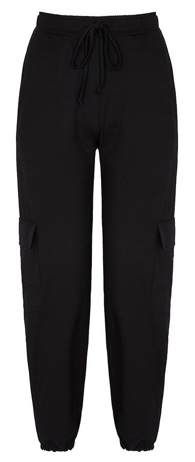Asquith Bamboo Cargo Pants - Black