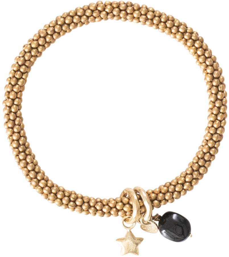 A Beautiful Story Jacky Black Onyx Star Gold Bracelet