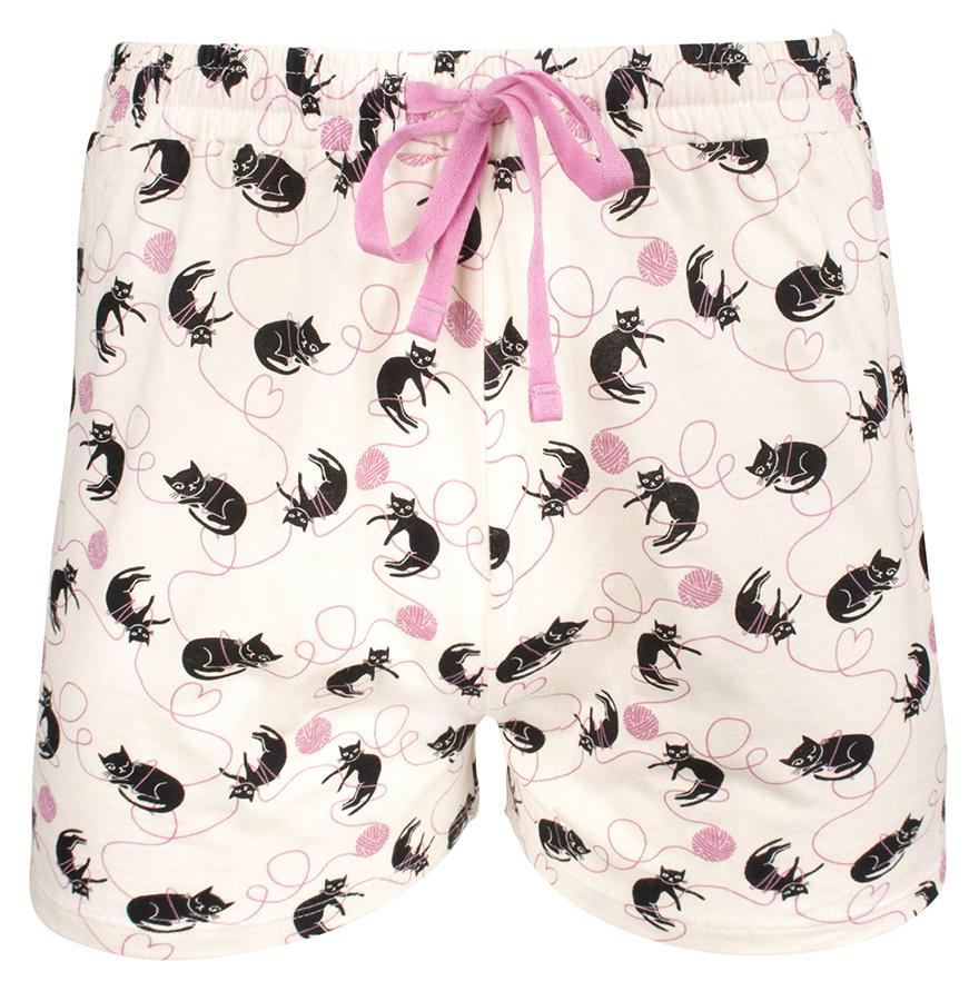 People Tree Cat Print Pyjama Shorts