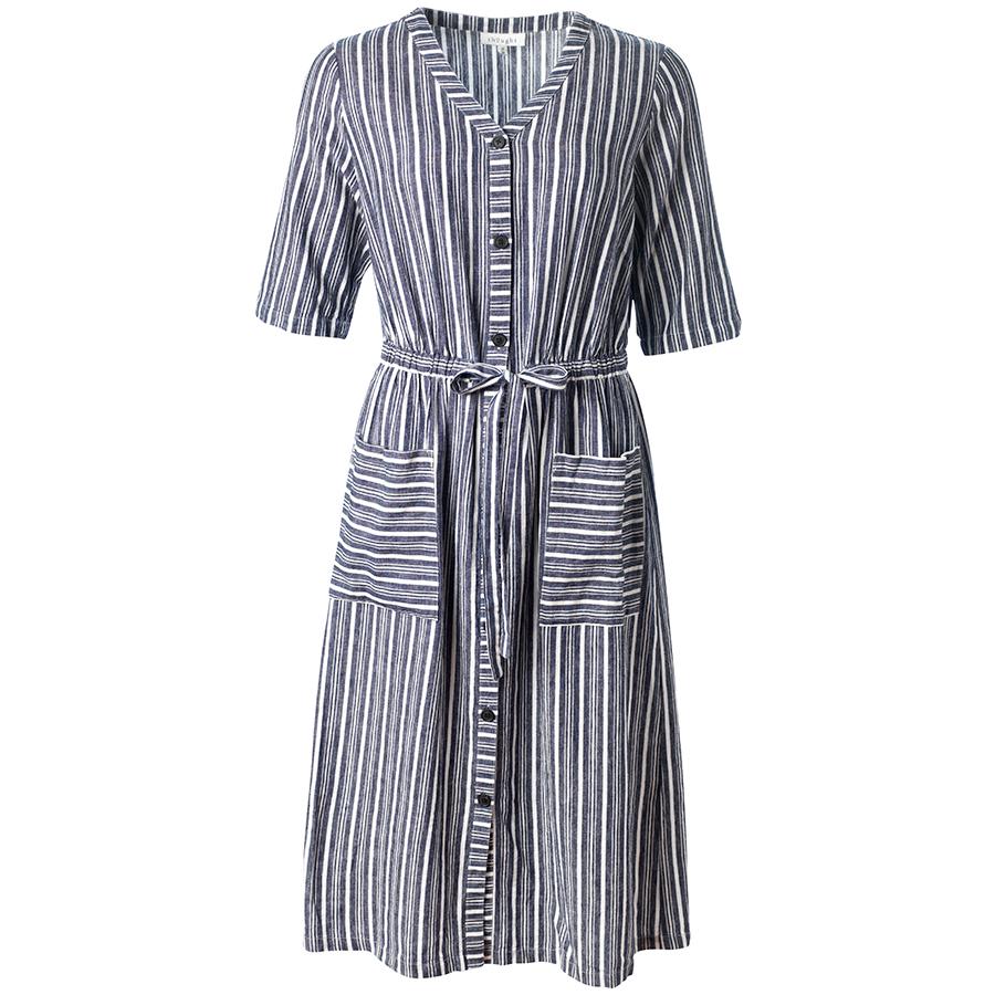 Thought Catterina Striped Hemp Dress