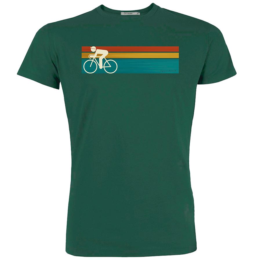 Green Bomb Bike Speed T-Shirt - Bottle Green