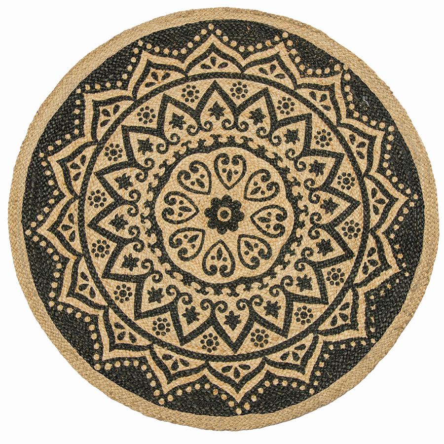 Mandala Print Round Rug