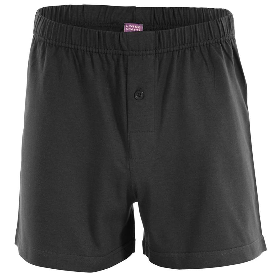 Organic Cotton Ben Boxer Shorts - Black