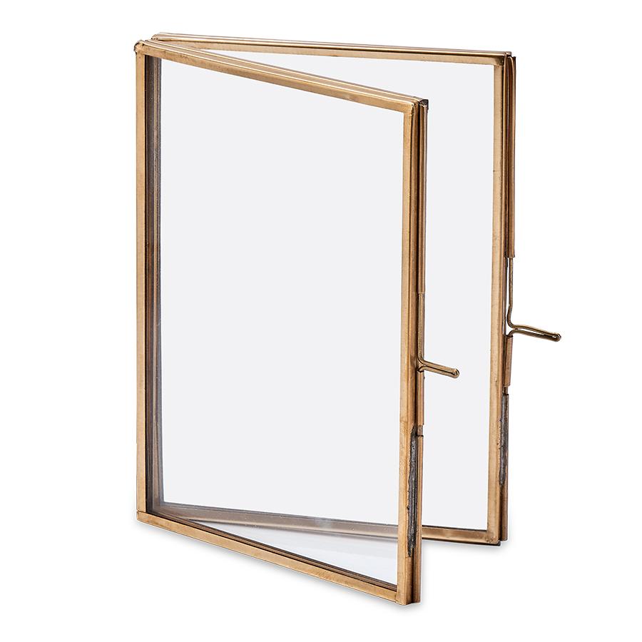 Danta Antique Brass Folded Frame - 5x7