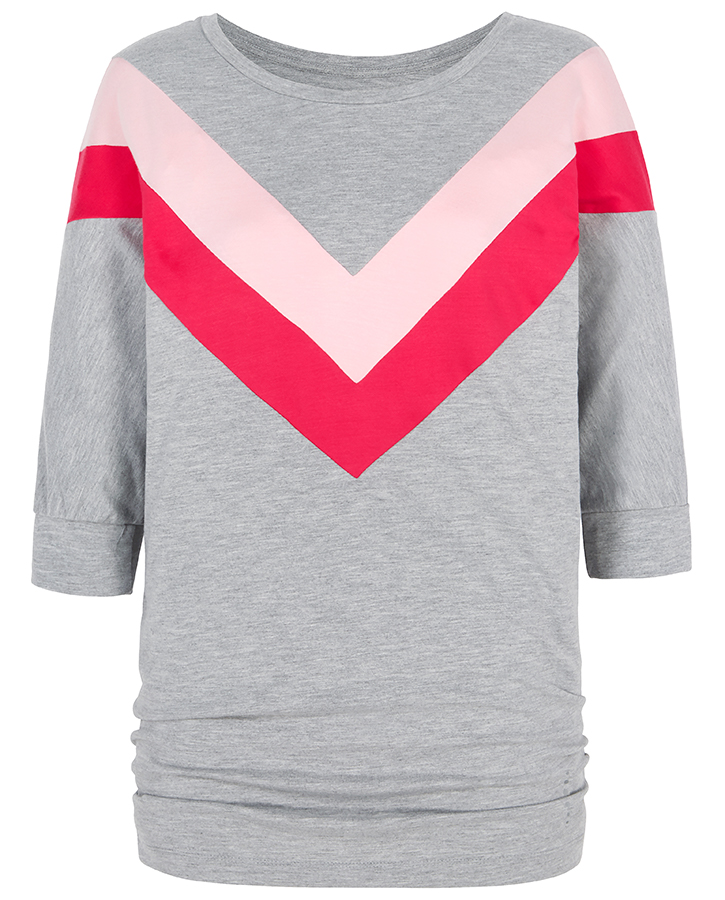 Asquith Bamboo Be Grace Batwing Top - Chevron