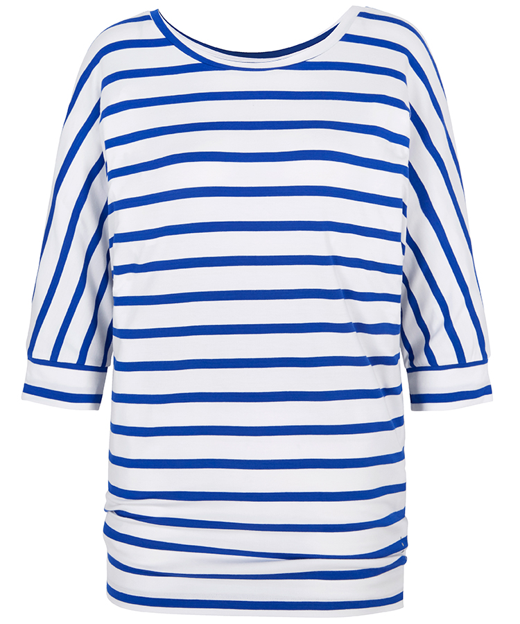 Asquith Bamboo Be Grace Batwing Top - Stripe