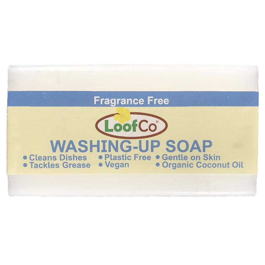 Loofco Fragrance Free Washing Up Soap Bar - 100g