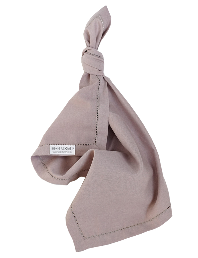 The Flax Sack Organic Linen Napkins - Champagne Pink - Set of 2