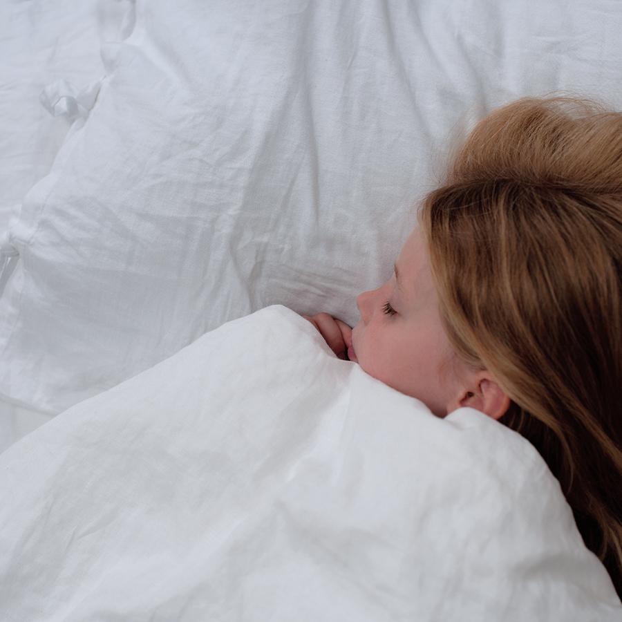 The Flax Sack Organic Linen Bedding Set - Simply White - Toddler