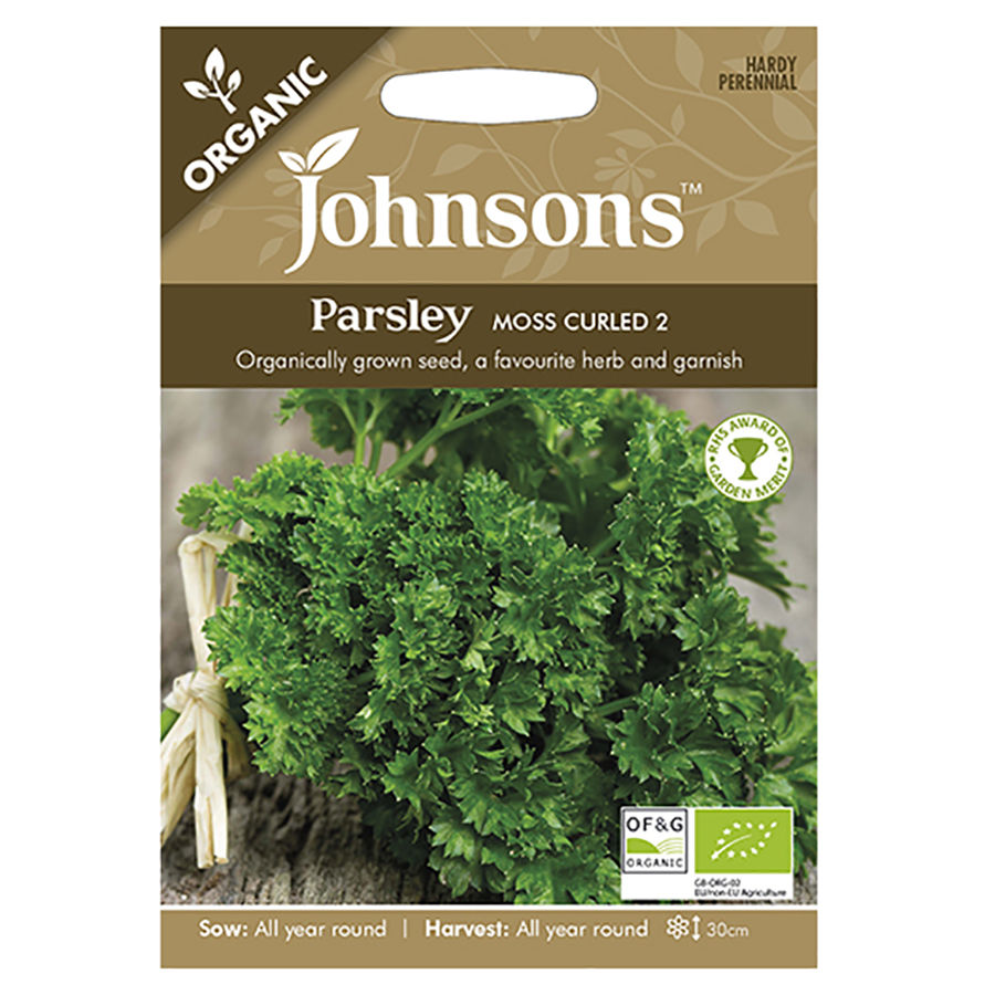 Johnsons Organic Parsley Seeds - Moss Curled 2