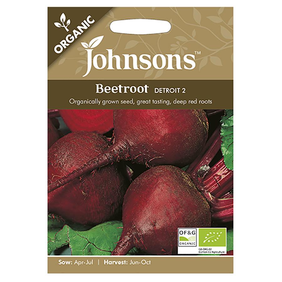 Johnsons Organic Beetroot Seeds - Detroit 2