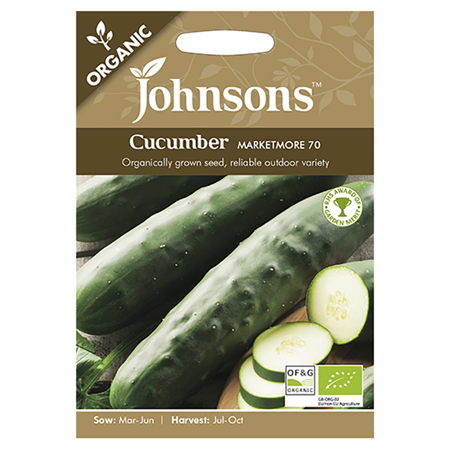 Johnsons Organic Cucumber Seeds - Marketmore 70