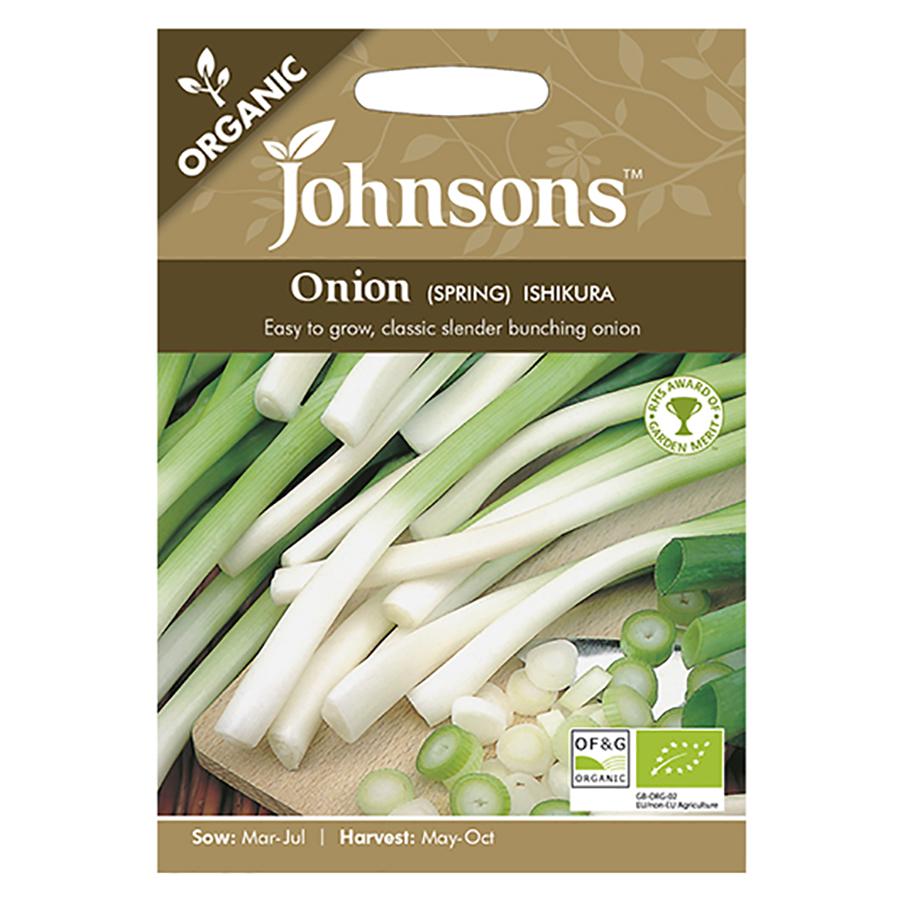 Johnsons Organic Spring Onion Seeds - Ishikura