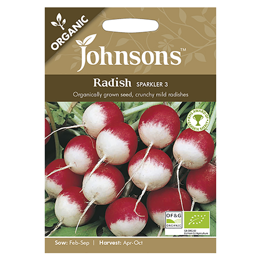 Johnsons Organic Radish Seeds - Sparkler 3