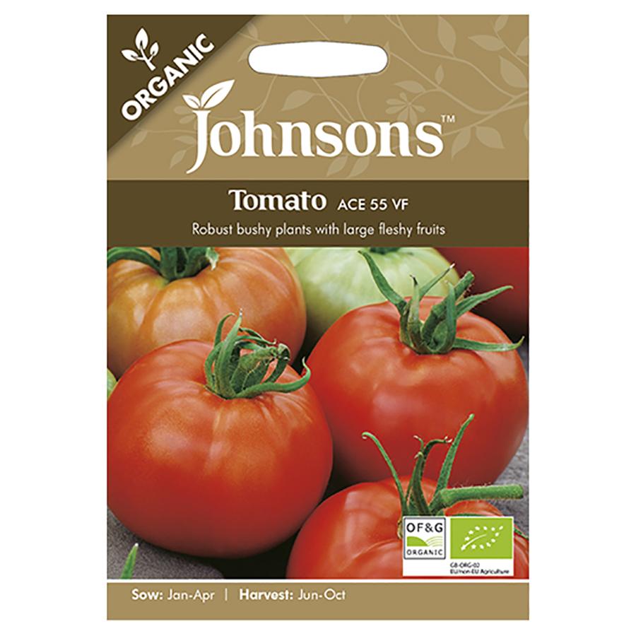 Johnsons Organic Tomato Seeds - Ace 55 VF