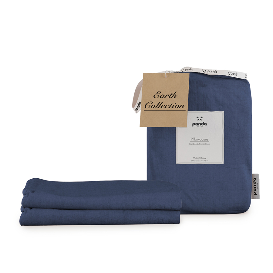 Panda Earth Collection Midnight Navy Pillowcases - Set of 2