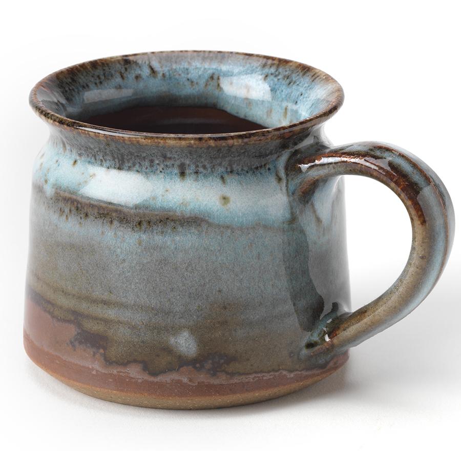 Handmade Blue Ceramic Speckled Mug - Set of 2
