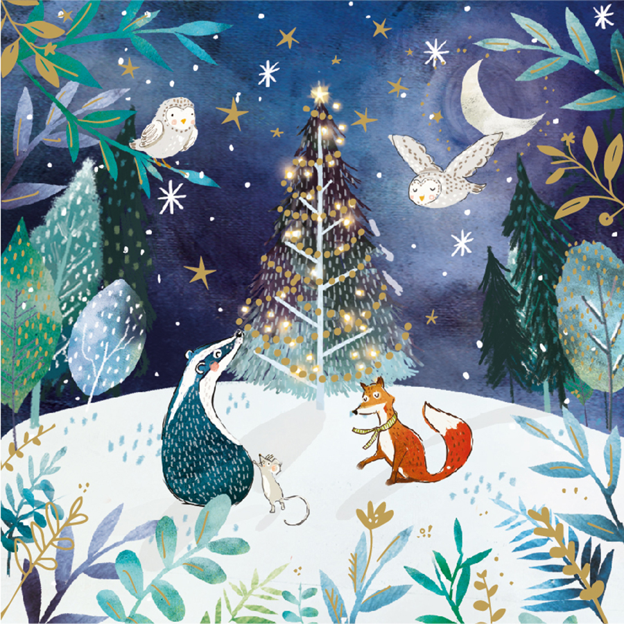 Friends In The Forest Charity Christmas Cards - Pack of 10