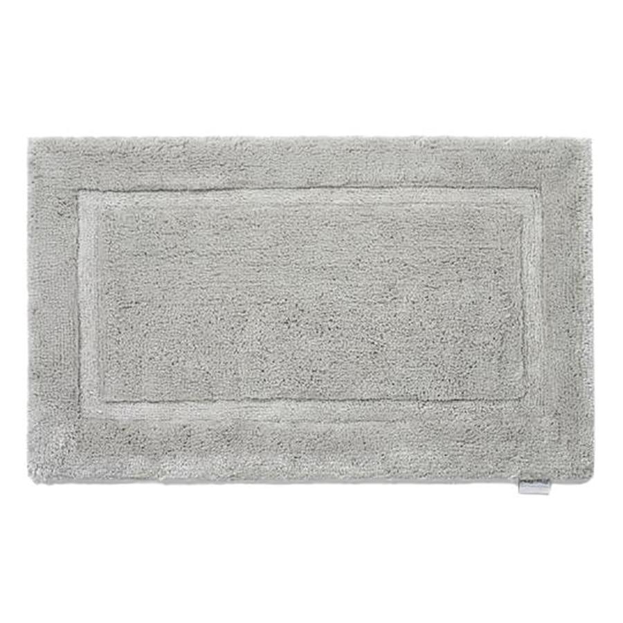 Grey Bamboo Border Bath Mat - 50 x 80cm