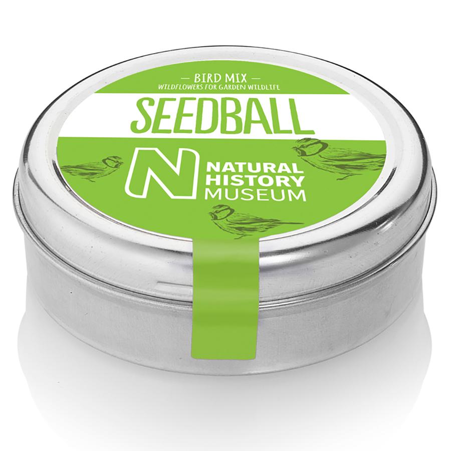 Natural History Museum Bird Mix Seedball Tin