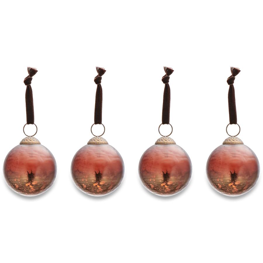 Nari Antique Rust Baubles - Set of 4
