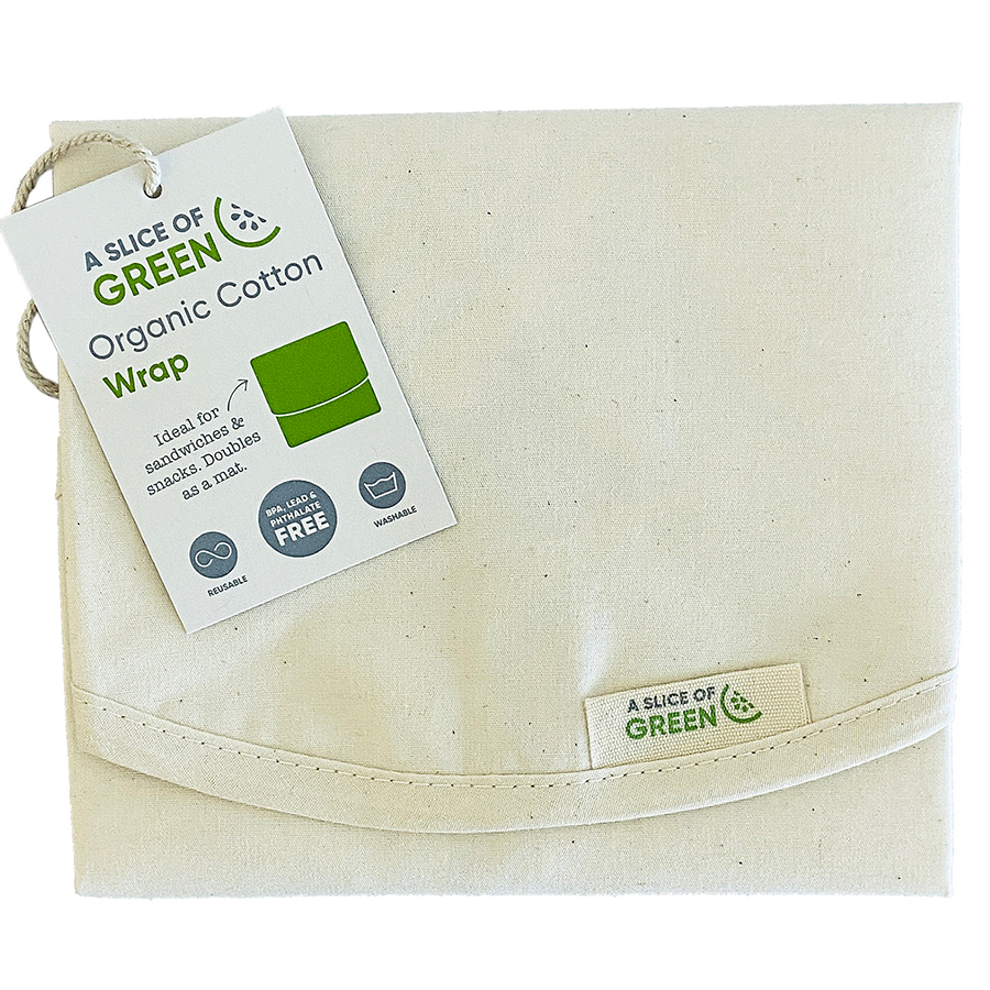 A Slice of Green Organic Cotton Sandwich & Food Wrap - Natural