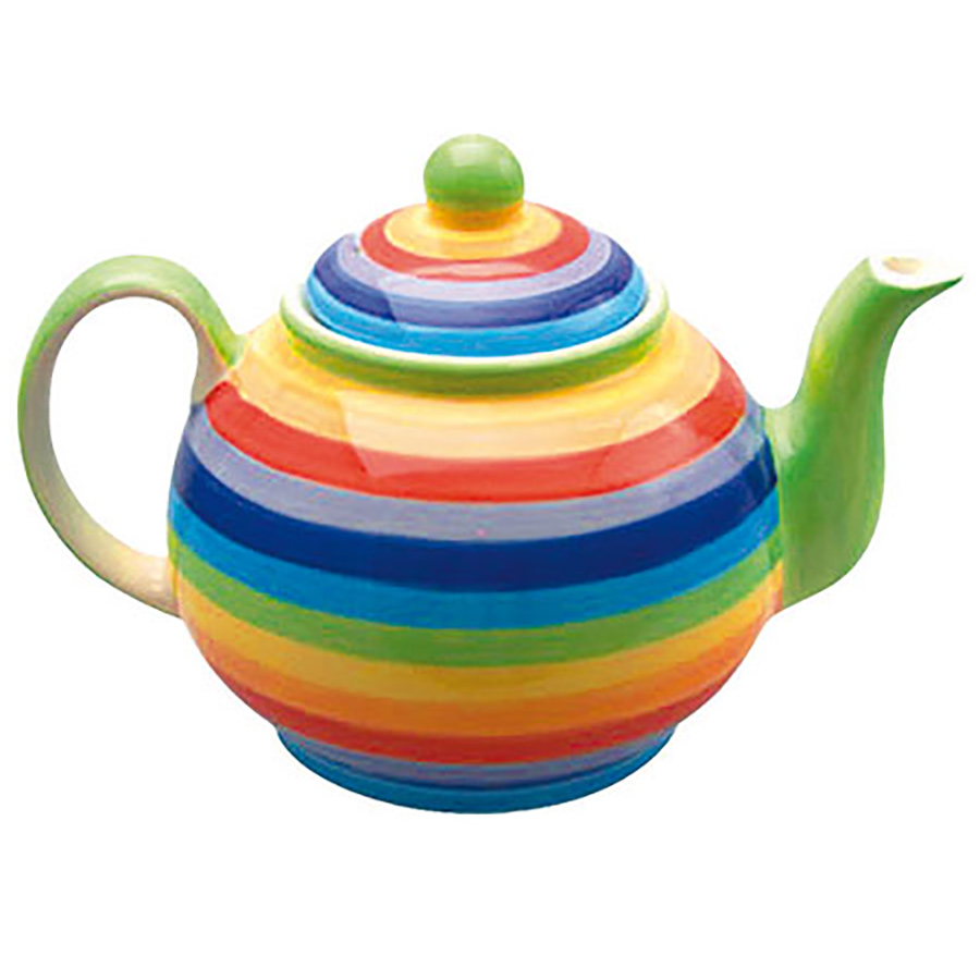 Handpainted Rainbow Teapot - Small