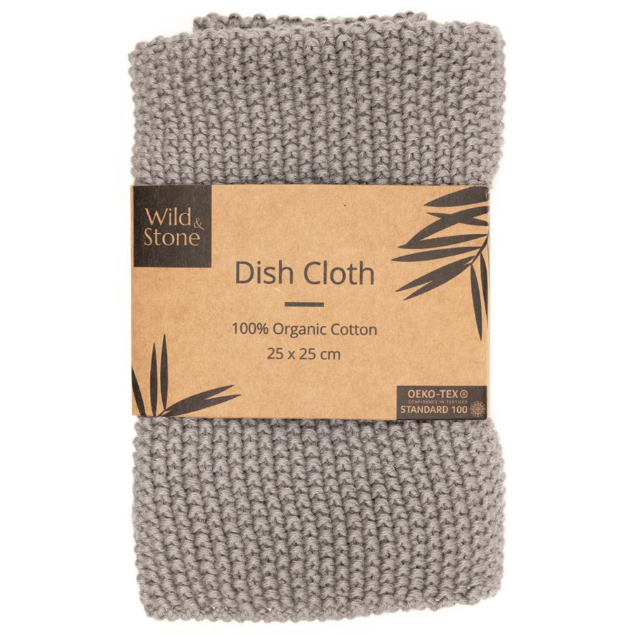 Wild & Stone Organic Cotton Dish Cloth - Dove Grey