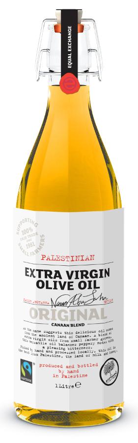 Equal Exchange Palestinian Fairtrade Extra Virgin Olive Oil (flip top) 1ltr.