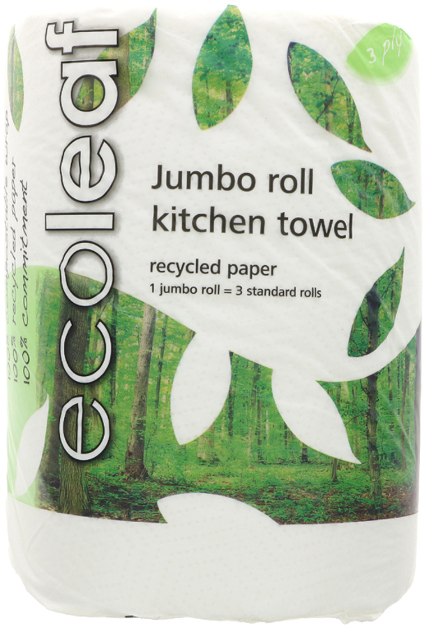 Ecoleaf Jumbo Recycled Kitchen Roll
