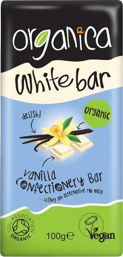 Organica White Chocolate Bar - 100g