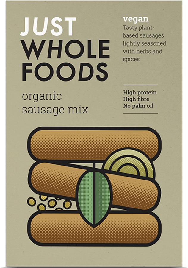 Just Wholefoods Vegetarian Sausage Mix - 125g