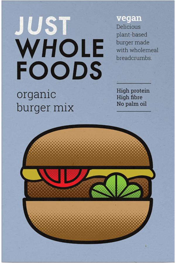 Just Wholefoods Vegan Burger Mix - 125g