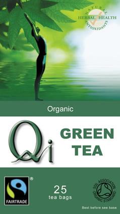QI Organic Green Tea x 25 bags at Natural Collection