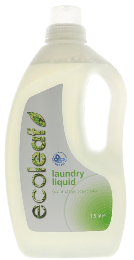 Ecoleaf Non-Bio Laundry Liquid - 1.5L - 37 Washes